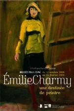 Villefranche-sur-Saône, musée Paul-Dini : Emilie Charmy (1878-1974) : une destinée de peintre.   Du 12 octobre 2008 au 15 février 2009