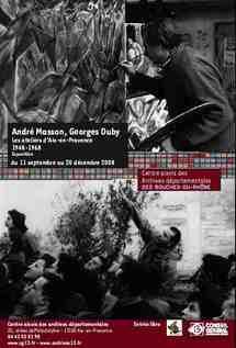 Jusqu'au 20/12 > Aix-en-Provence - Exposition et Colloque 'André Masson / Georges Duby Aix en Provence 1948-1968'
