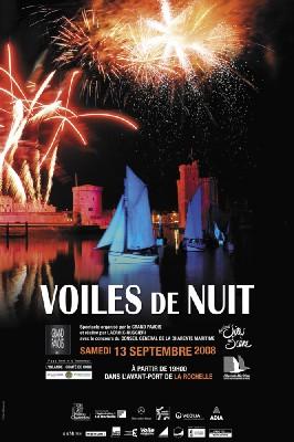 La Rochelle, Vieux port : Voiles de nuit, un spectacle unique et féérique. Samedi 13 septembre à partir de 18h00