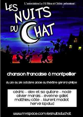 23 au 25 octobre - Montpellier : Nuit du Chat, chanson française