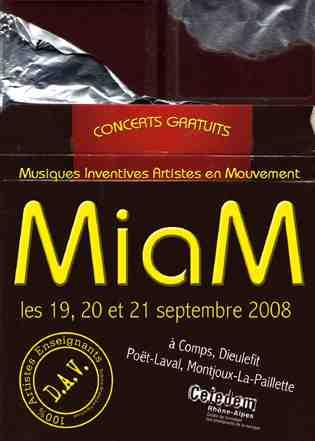 19 au 21 septembre - Drôme : Festival M.I.A.M., musiques et chansons actuelles