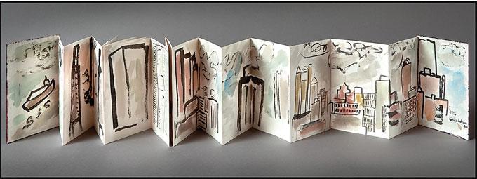Etel Adnan, New York, 23 mai 1990, leporello © Etel Adnan