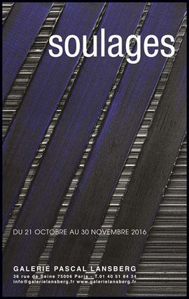 Exposition Pierre Soulages à la Galerie Pascal Lansberg, Paris, du 21 octobre au 30 novembre 2016