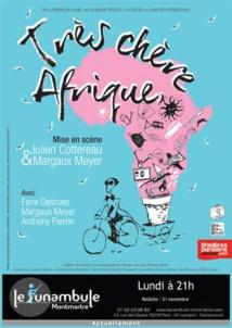 Très Chère Afrique au théâtre Le Funambule, Paris, tous les lundis à 21h, du 17 oct. 2016 au 30 janv. 2017