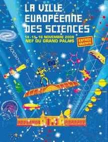 14 au 16 novembre > Paris : La Ville européenne des Sciences s'installe sous la Nef du Grand Palais à Paris