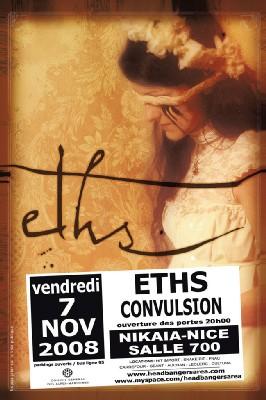 Vendredi 7 Novembre à 20h > Eths + Convulsion en concert à Nice, Nikaïa 700