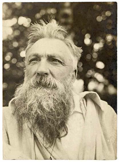 Anonyme, Portrait de Rodin, les cheveux ébouriffés, 1907, épreuve gélatino-argentique, collection musée Rodin