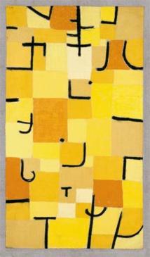 Paul Klee Signes en jaunes 1937, 210 (U 10) Pastel sur coton sur peinture à la colle sur jute sur châssis, 83,5 x 50,3 cm © Robert Bayer, Basel