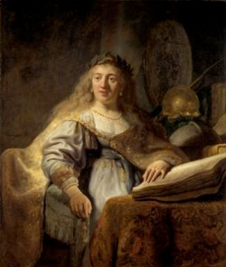 Rembrandt, Minerve , 1635. Huile sur toile, 137 x 116 cm. Leiden Collection © Leiden Collection