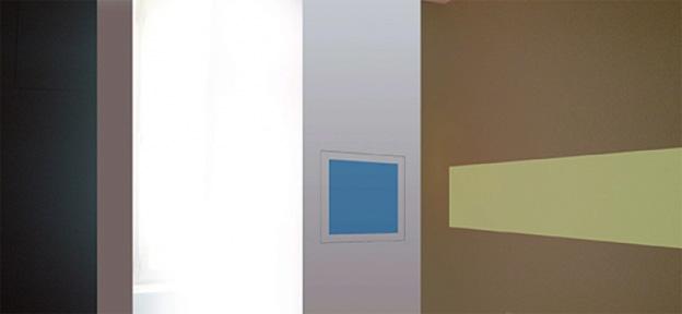 Guillaume Louot, WUE dispositif (détail), peintures acryliques, crayon 7B, 330 x 260 x 270 cm.