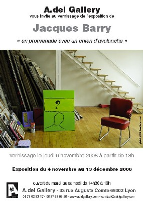 4/11 au 13/12 > Lyon, A.del Fallery : Exposition Jacques Barry