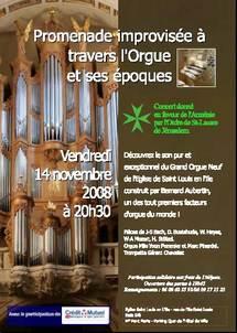 14/11 à 20h30 > Paris, Saint-Louis en l'île : le nouvel orgue de Saint Louis en l'Ile vient en aide aux Arméniens !