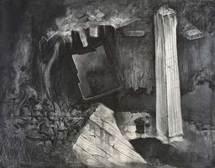 Wu Xiaohai - Height Saints - 2008 - fusain sur papier - 40 X 50 cm - Oeuvre unique