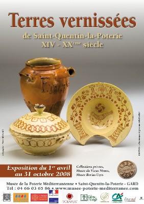 Jusqu'au 22 février > Exposition Terres Vernissées de Saint-Quentin la Poterie XIV-XXème siècle