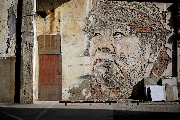 VHILS, Wall in Shanghai, courtesy of the artist and Magda Danysz Gallery