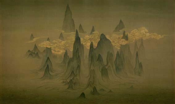 Petites Trois Gorges, encre de Chine sur soie, 60x100cm, 2016 © Chen Duxi/Yishu 8