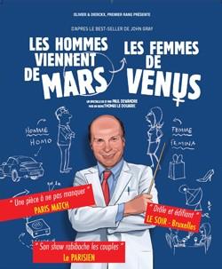 Les Hommes viennent de Mars, les femmes de Vénus au Palais de la Méditerranée