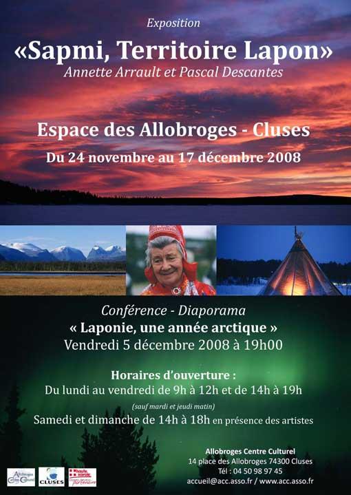 """25/11 au 17/12 > """"Sapmi, Territoire Lapon"""", photographies de Annette Arrault et Pascal Descantes. Cluses"""