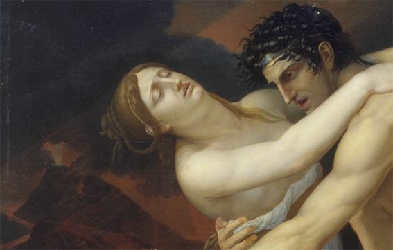 Jean-Bernard Duvivier (1762-1837)  Scène de déluge (détail).  Vers 1815, huile sur toile.  Musée des beaux-arts et d'archéologie de Besançon