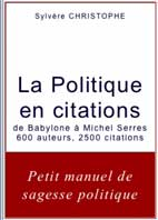 La Politique en citations de Sylvère CHRISTOPHE