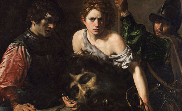 Valentin de Boulogne, David et Goliath, vers 1615-1616, Huile sur toile, 99x134 cm, Museo Thyssen-Bornemisza, Madrid © Museo Thyssen-Bornemisza, Madrid