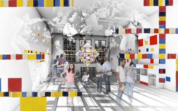 Le studio parisien de Mondrian est désormais à la Mondriaanhuis, Amersfoort (Holland)