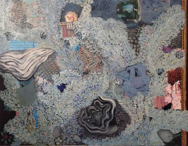 Marion Davout, Les déserts, les paradis 2, 2015, huile sur toile 114 x 116 cm