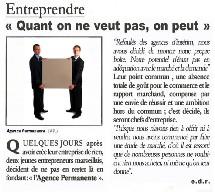 15 au 20/12 <> « Quand on ne veut pas, on peut », Agence permanente, Marseille
