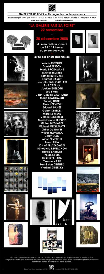 Jusqu'au 20/12 <> La galerie Vrais Rêves fait sa foire. Galerie Vrais Rêves, Lyon