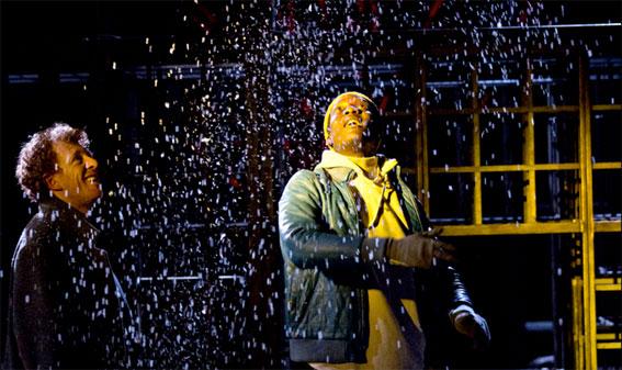 Neige, d'après le livre Neige d' Orhan Pamuk. Mise en scène Blandine Savetier, théâtre La Criée, Marseille, du 26 au 28 avril 2017