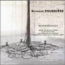Exposition Bernard Pourrière du 13 janvier au 13 février à Nice