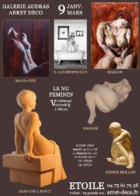 Jusqu'au 9 mars, Le nu féminin, galerie Audras à Etoile (26)