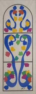 1966, N°046 «La vague», 1966 Claude Viallat Gélatine et colorant sur toile sur châssis Coll. de l'artiste Photo Pierre Schwartz (scan J.P. Loubat) © ADAGP, Paris 2009