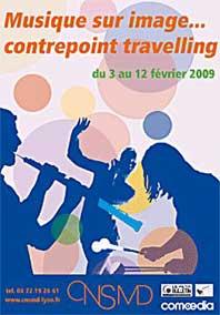 """3 au 12 février, Manifestation thématique """"Musique sur image... Contrepoint travelling"""" au Conseravtoire national de musique de Lyon"""