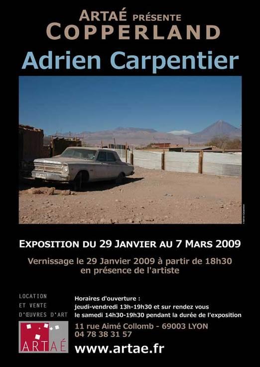 29 janvier au 7 mars, Adrien Carpentier, photographies, à la galerie Artaé à Lyon