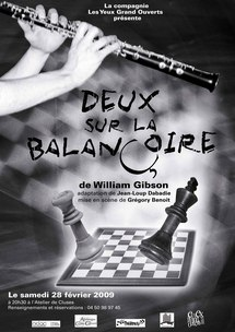 28 février, théâtre Deux sur la balançoire,  Compagnie Les yeux grand ouverts, au centre culturel Allobroges à Cluses