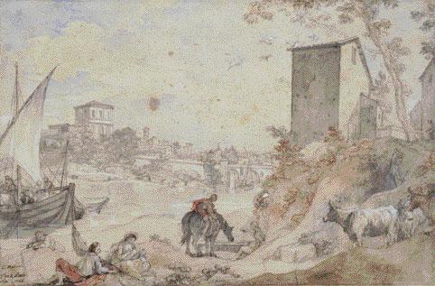 Charles Natoire (1700-1777). Le Ponte rotto