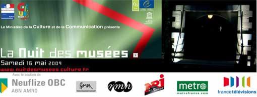 16 mai, La Nuit des musées 2009 dans 39 pays d'Europe
