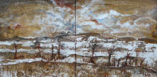 4 avril au 15 mai, Expo Travelling. Peintures de Claude Poty, ECHOS. Galerie Realgar à Saint-Etienne