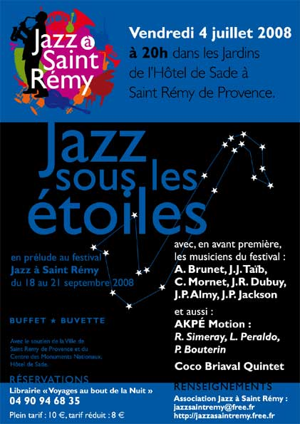 21 mars, jazz à Saint-Rémy de Provence, avec Cocktail Four