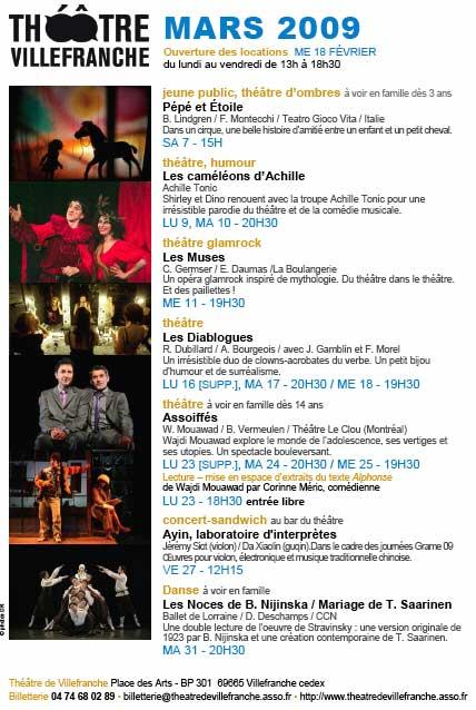 Mars au théâtre de Villefranche sur Saône (Rhône)