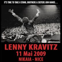 11 mai, Lenny Kravitz - LLR 20(09) Tour au palais Nikaïa de Nice