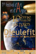 30, 31 mai et le 1er juin, 10e marché des potiers  et 1er Festival d'Art et d'Argile à Dieulefit, Drôme