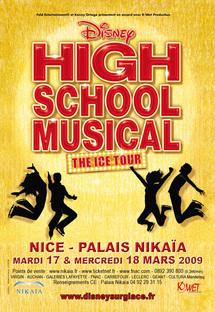 17 et 18 mars, High School Musical, spectacle sur glace, au Palais Nikaïa de Nice