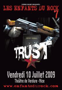 10 Juillet, Trust au festival Enfants du Rock 7 à Nice