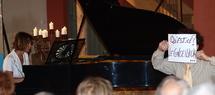 1 et 2 mai, Musique et peinture 'E Il Piano Va', Sylvie Sagot-Duvauroux, piano, Poët-Laval (26)