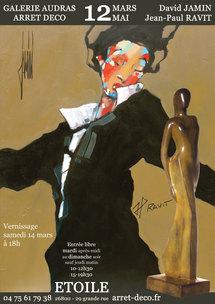 12 mars au 12 mai, David Jamin & Jean-Paul Ravit à la Galerie Audras, Arrêt Déco, Etoile (Drôme)