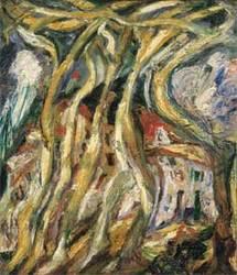 Chaïm Soutine, Les platanes à Céret, Place de la liberté, 1922 Huile sur toile, 72.5 x 63.5 cm, Collection privée © ADAGP, Paris 2009