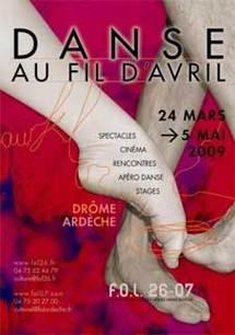 24 Mars au 5 Mai, Festival Danse au fil d'Avril en Ardèche et Drôme