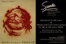 Exposition Dominique Paulin, à la Galerie Sponte